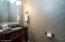 Powder room on first level.
