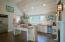 Vaulted ceilings and stainless steel appliances
