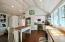 Beautiful heart pine countertops and pine tongue and groove ceilings