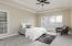 Master bedroom, Tray ceilings