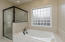 Separate shower/tub
