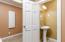 Bathroom off laundry room