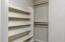 Storage in closet