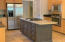 Center Island and stainless steel appliances