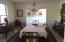 Beautiful, bright dining room