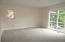 Master bedroom w/ full bath & sliding door to porch with golf view!