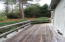 Decking extends to stone patio
