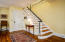 Long-lasting Maple tread staircase leads to the second floor