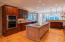 Gourmet kitchen with center island, great for entertaining.