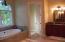 Master bath tub, private toilet and separate vanity