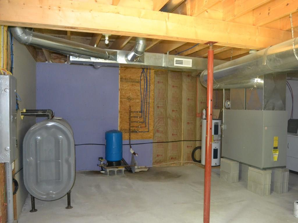 The utility area on the ground floor.