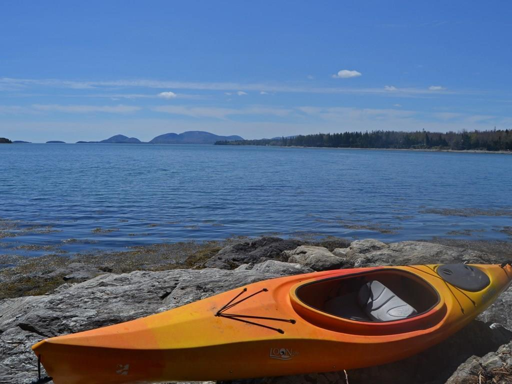 Launch your kayak from the granite...