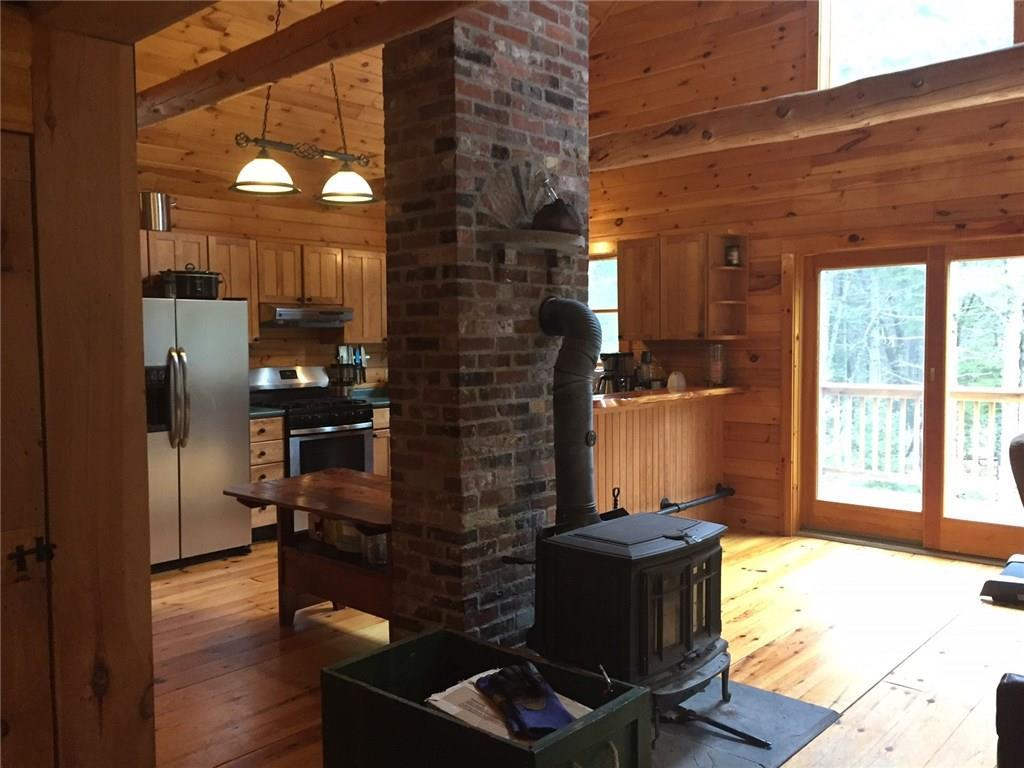Looking from dining area toward kitchen