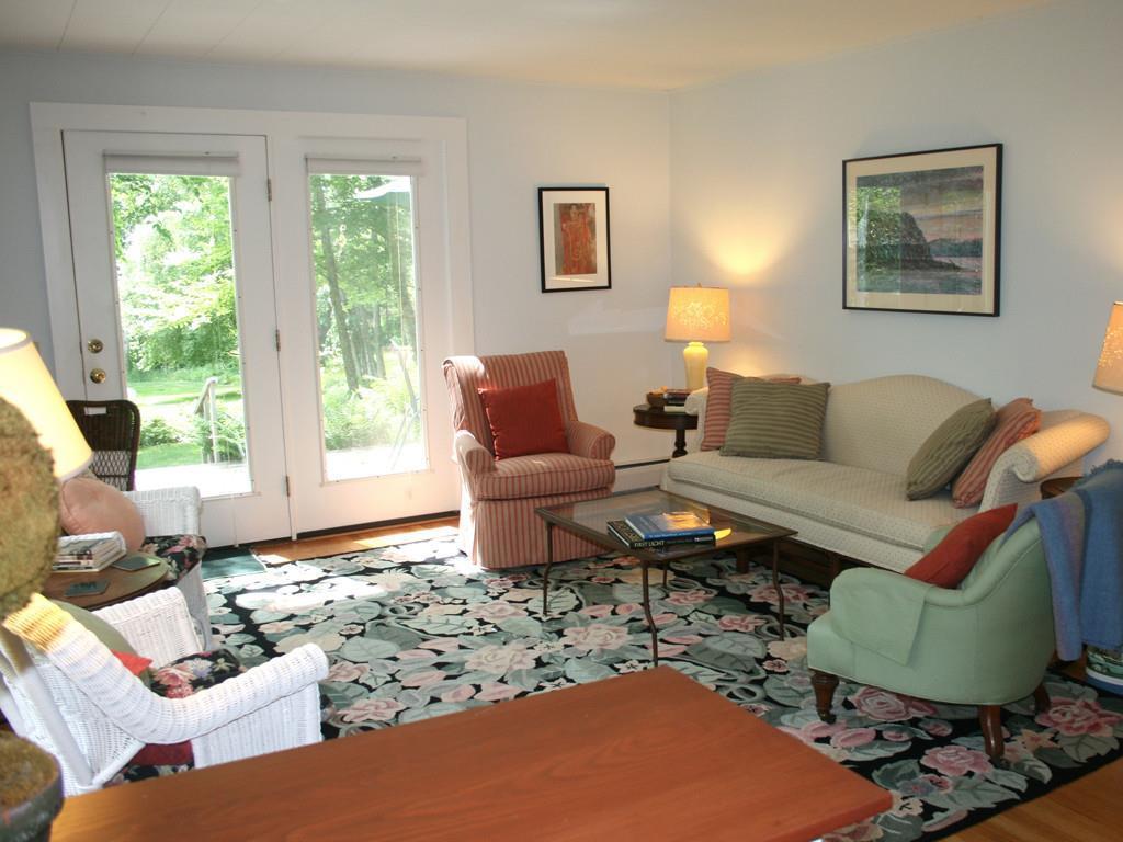 Living Room with door to deck.