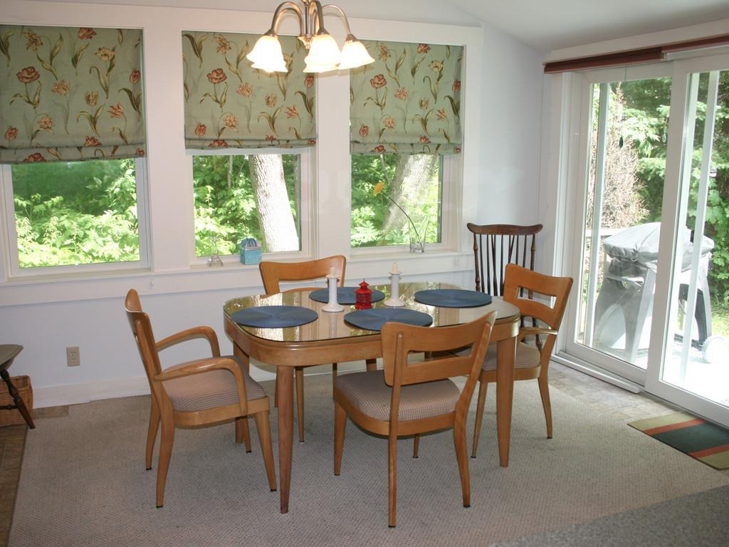 Dining Area and sliding door to lawn...