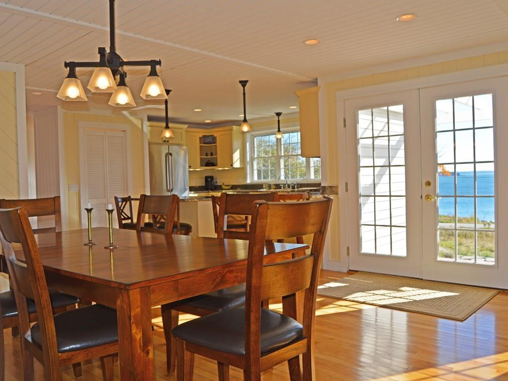 Dining area with wonderful views.