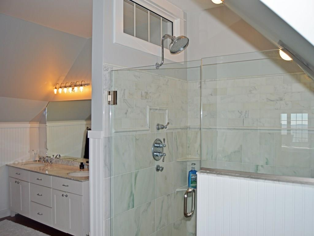 Large walk-in shower in the master...
