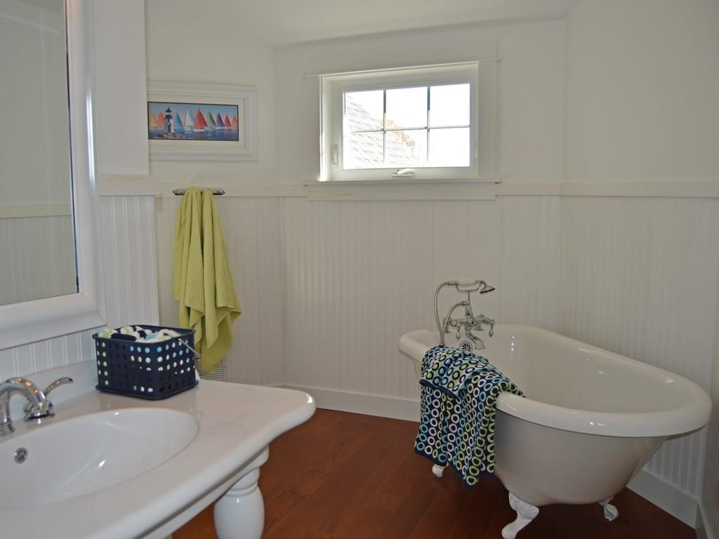 Guest Bathroom with clawfoot tub and...