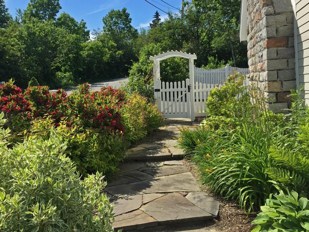 Lovely stone walkway and landscaping...
