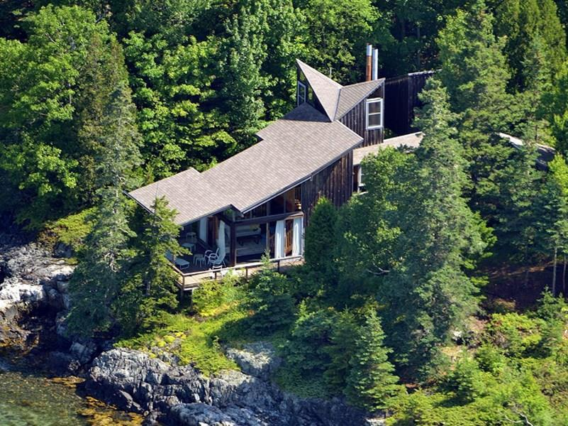 Aerial view of Shore Cottage,...