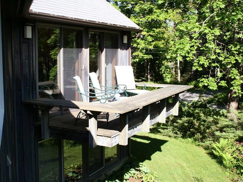 South-facing deck at Guest Cottage