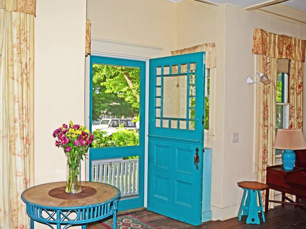 The beautiful, Dutch front door is...