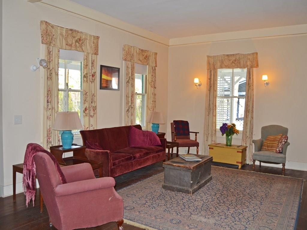 The sitting area in the front parlor.