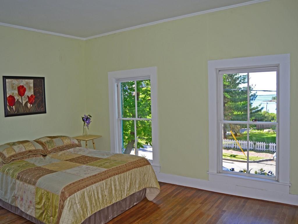 Large bedroom with striking views of...
