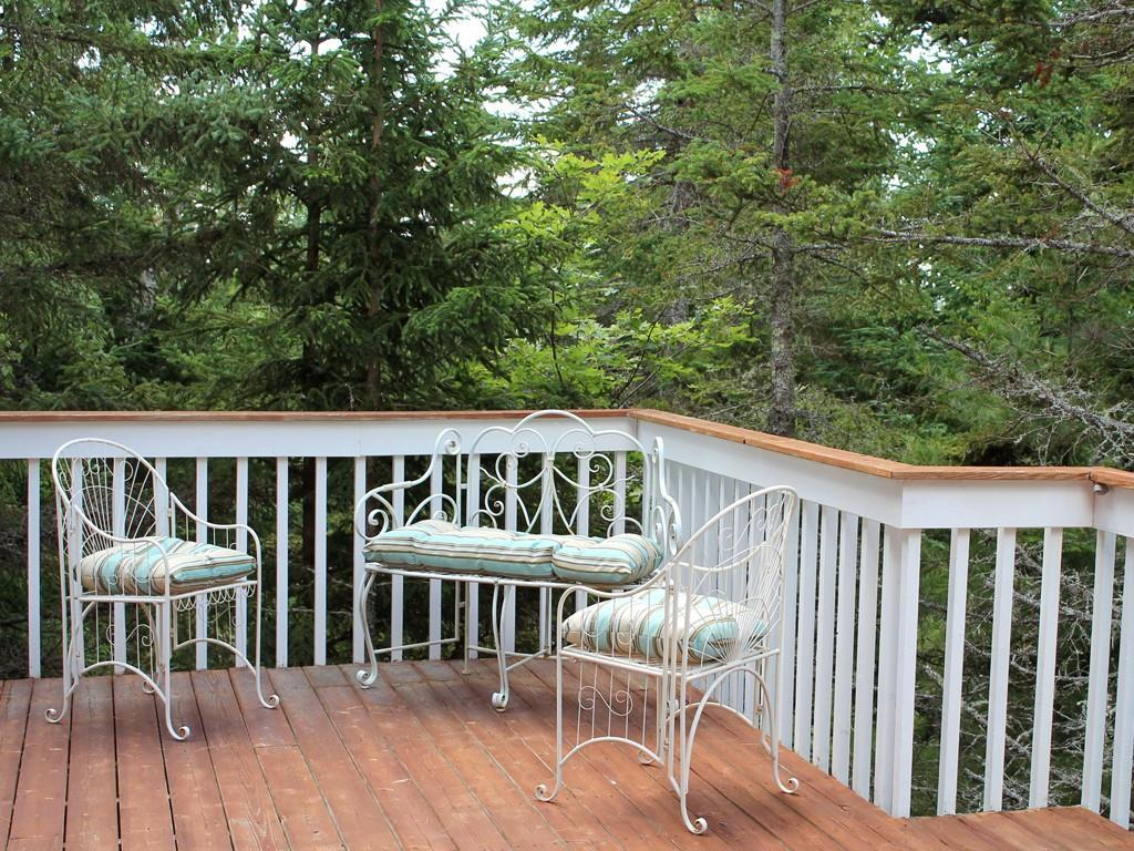 The wide deck is ideal for summer...