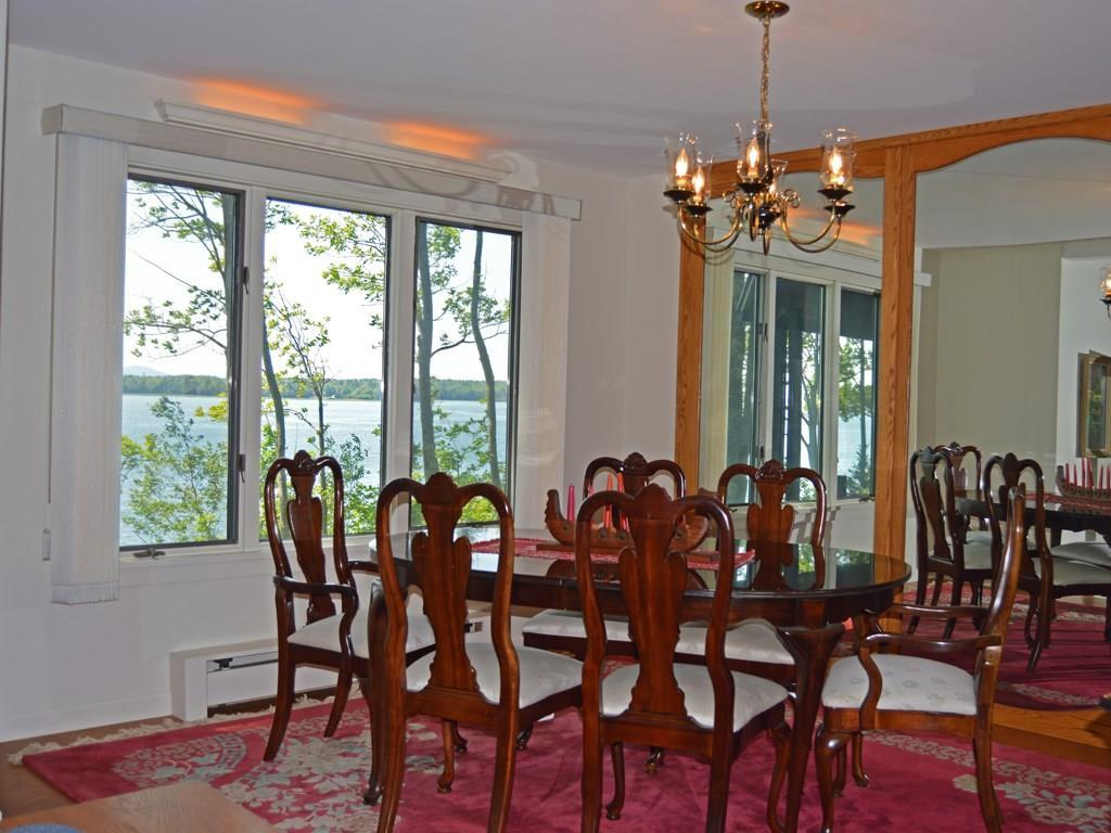 The ocean view formal dining room.