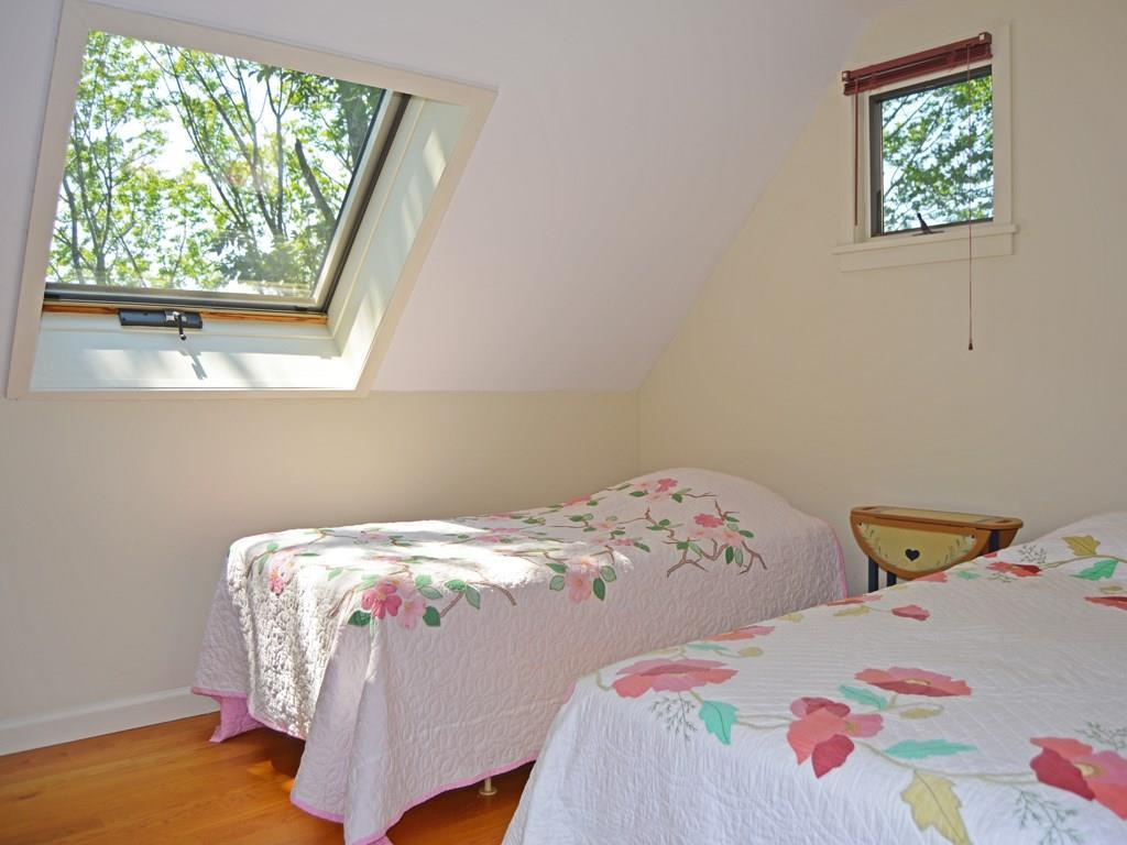 One of two guest bedrooms on the...