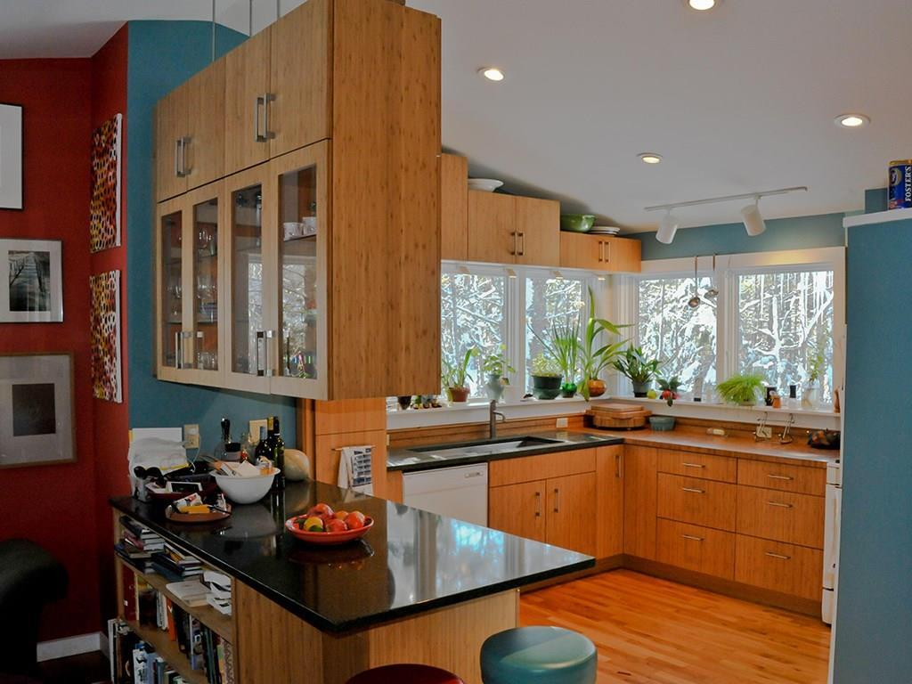 Another view of the efficient kitchen.