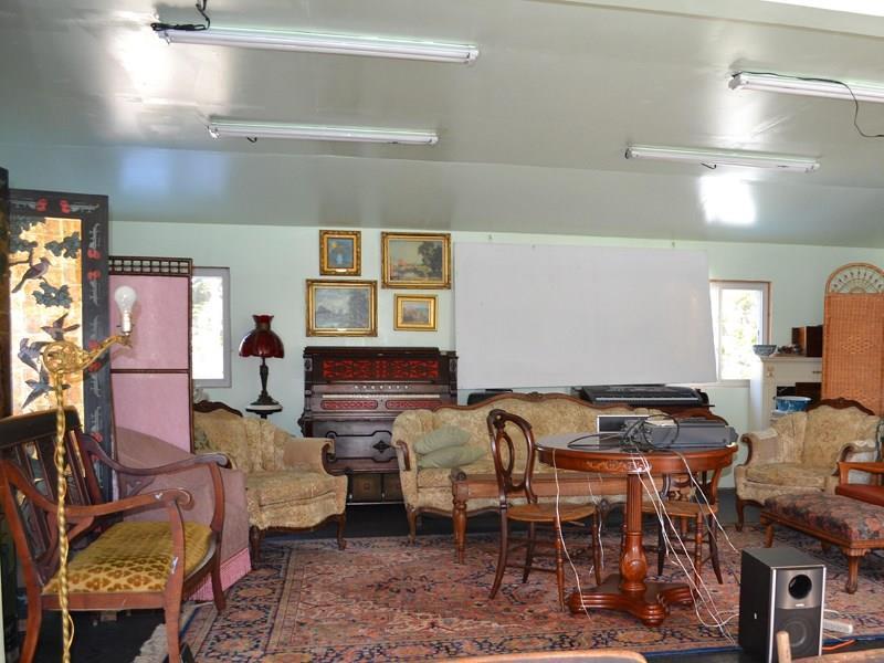 Interior of outbuilding.