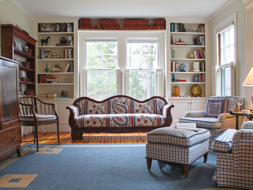 Living Room with built in bookcases...