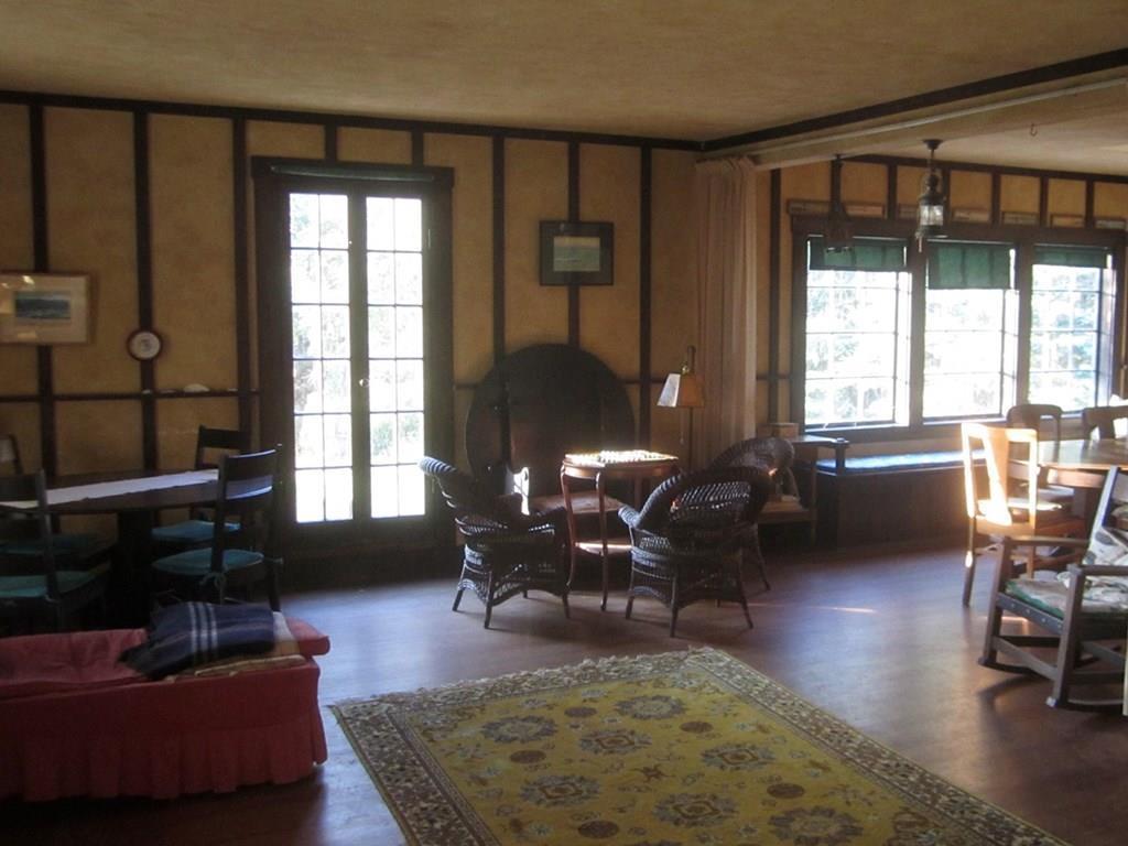 Spacious living room...checkers anyone?