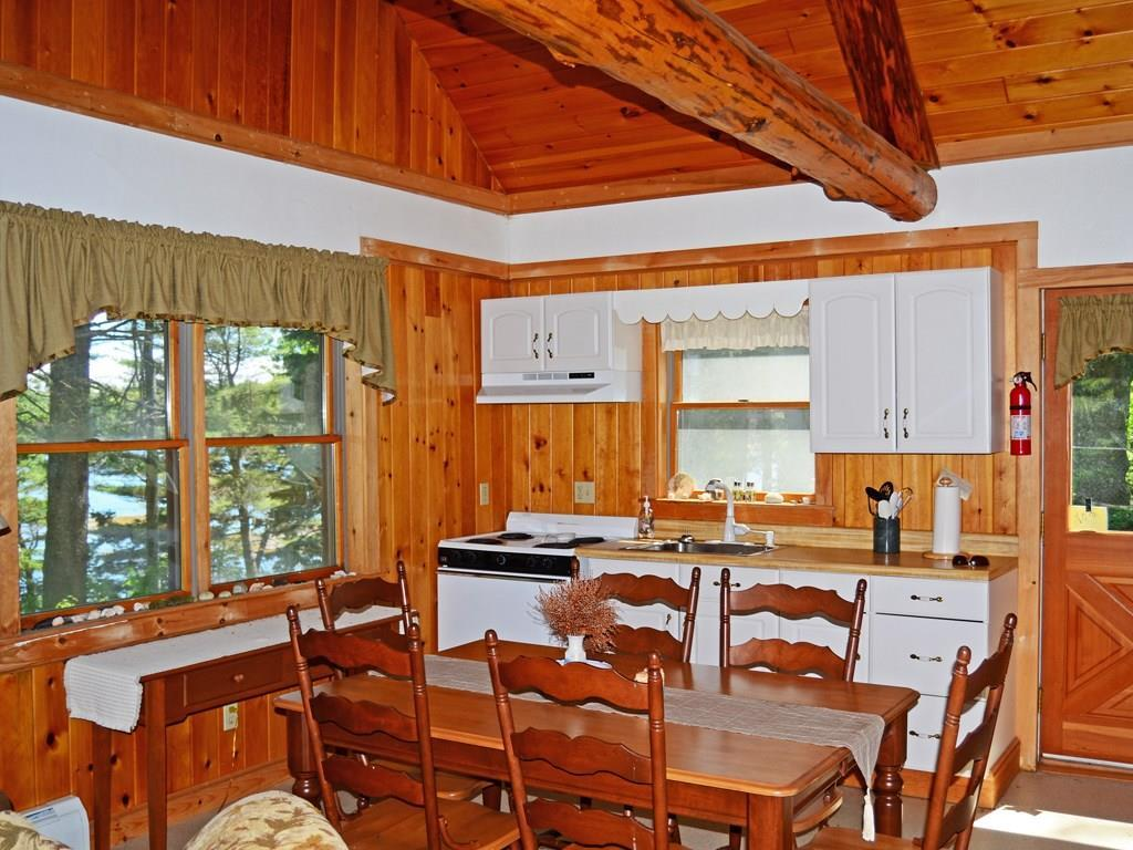 The cabin's kitchen area.