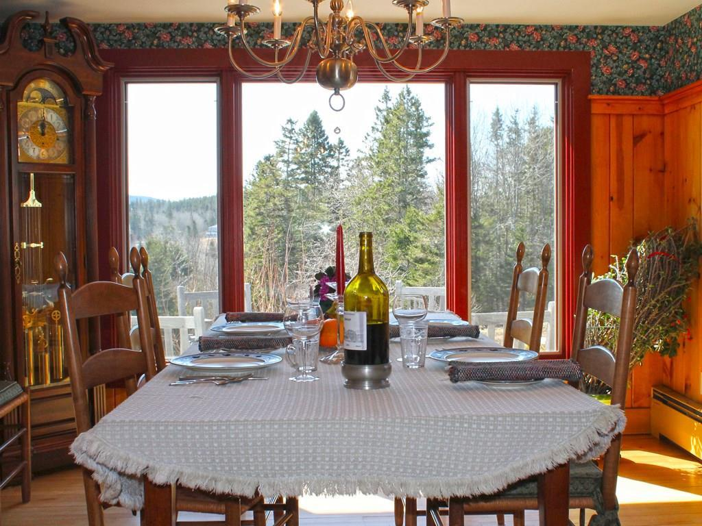 Dining room with view over the inlet...