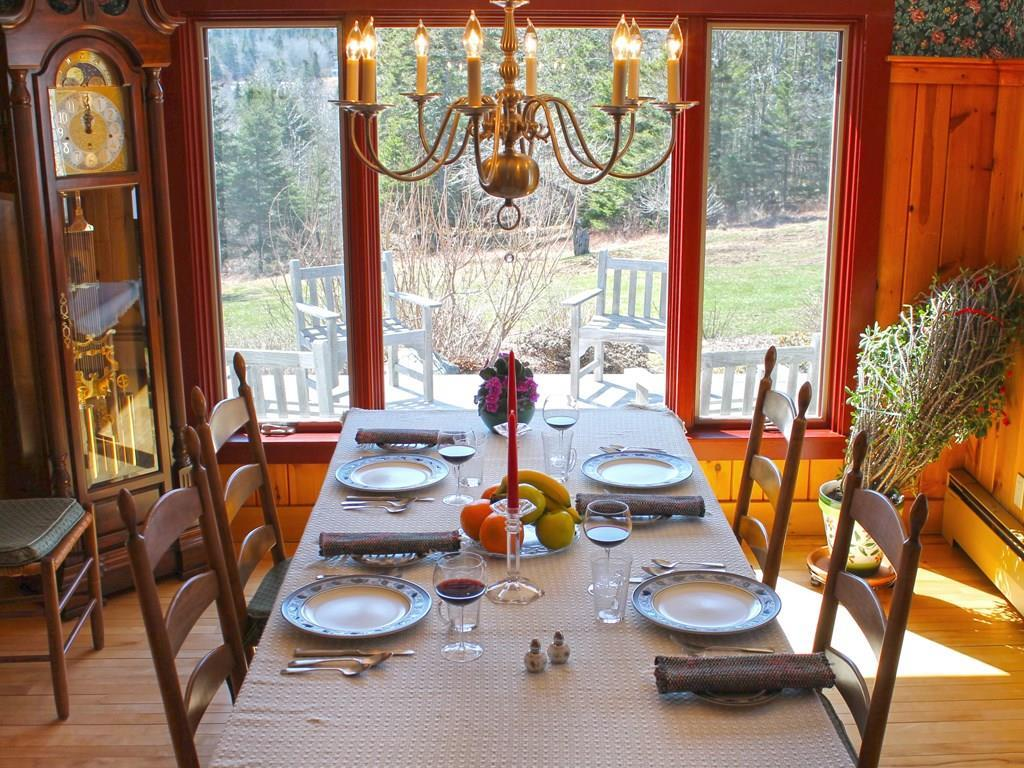 Dining room, part of the old house,...