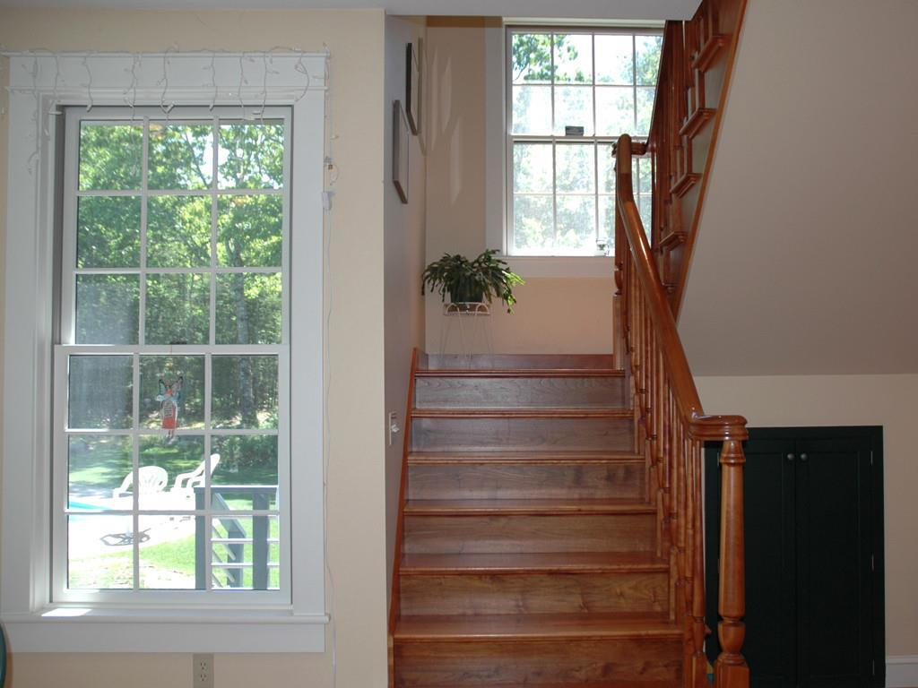 Stairs to Upstairs Family Room and...