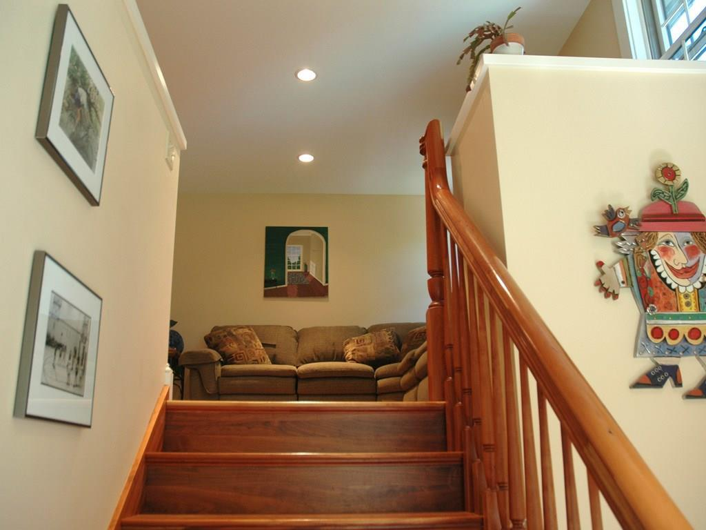 Stairway up to Upstairs Family Room