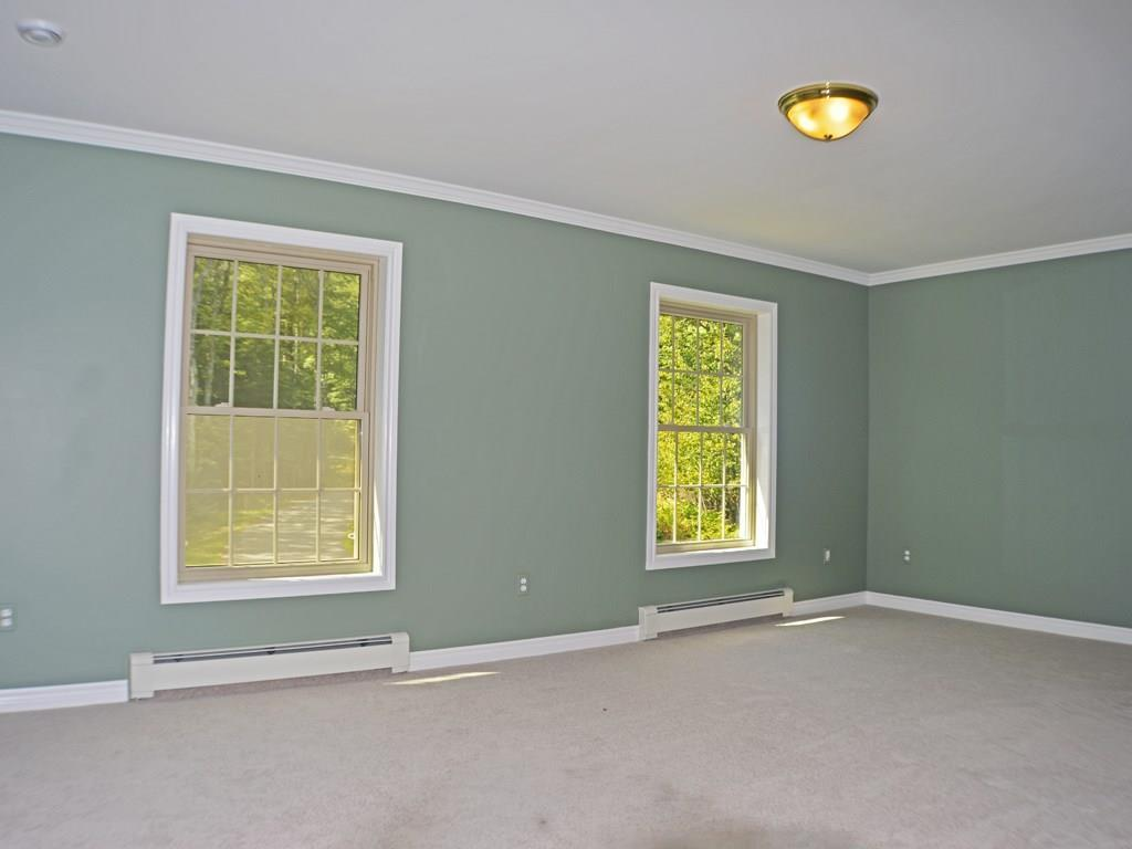 Large guest room with walk-in closet.