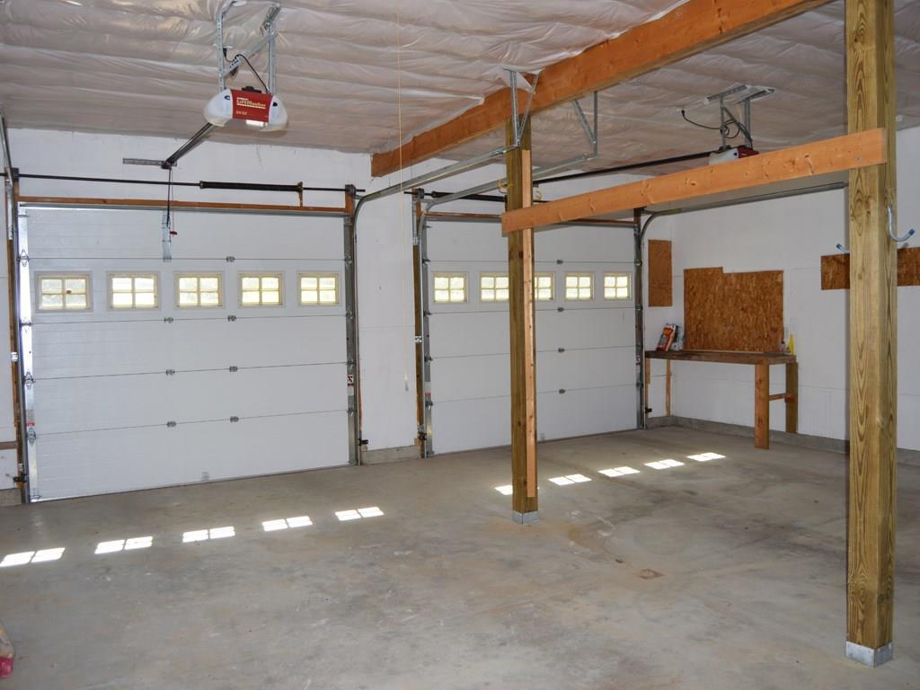 Attached two-bay garage with plenty...