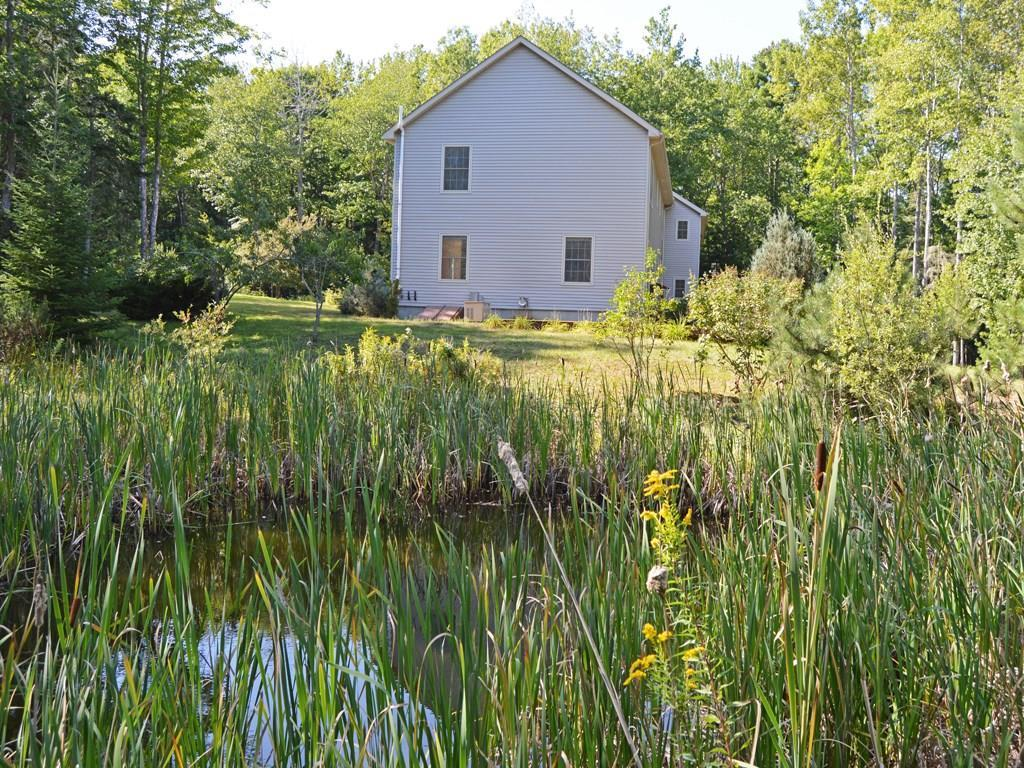 Scenic fire pond.