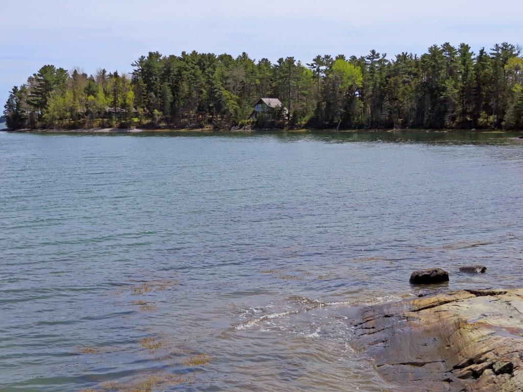 View to cottage from cove