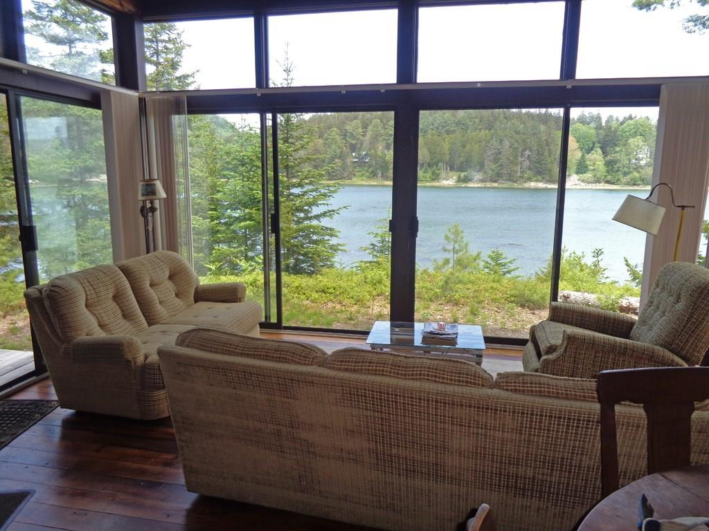 View from living room to cove