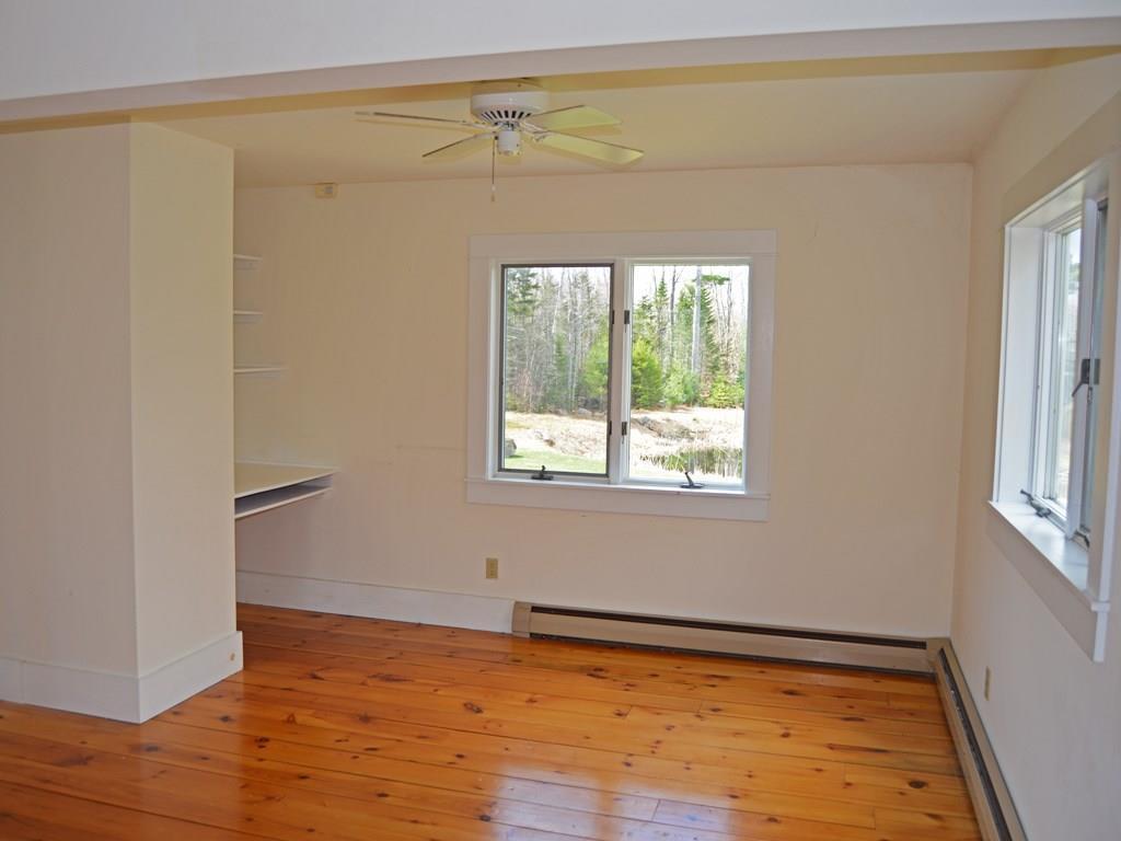 Master bedroom also has built-in...