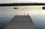 Shot of the dock, which is an extension of the permanent cement dock.