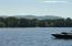View from the dock with Shawnee Peak in the distance.
