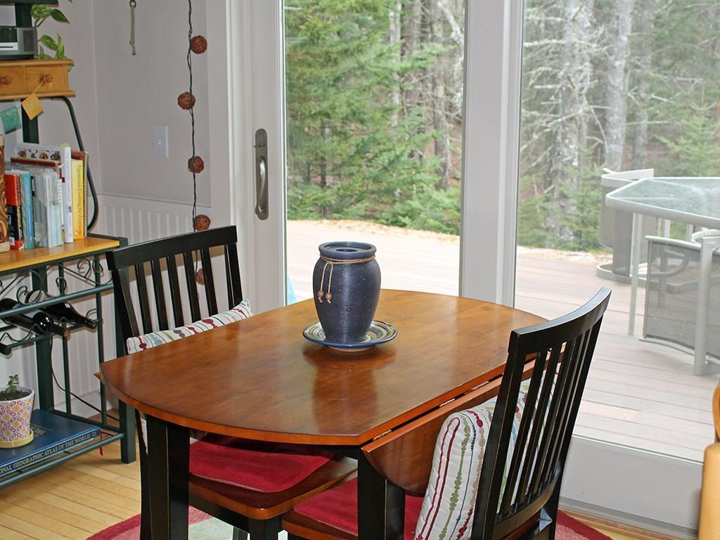 Breakfast nook with access to the...