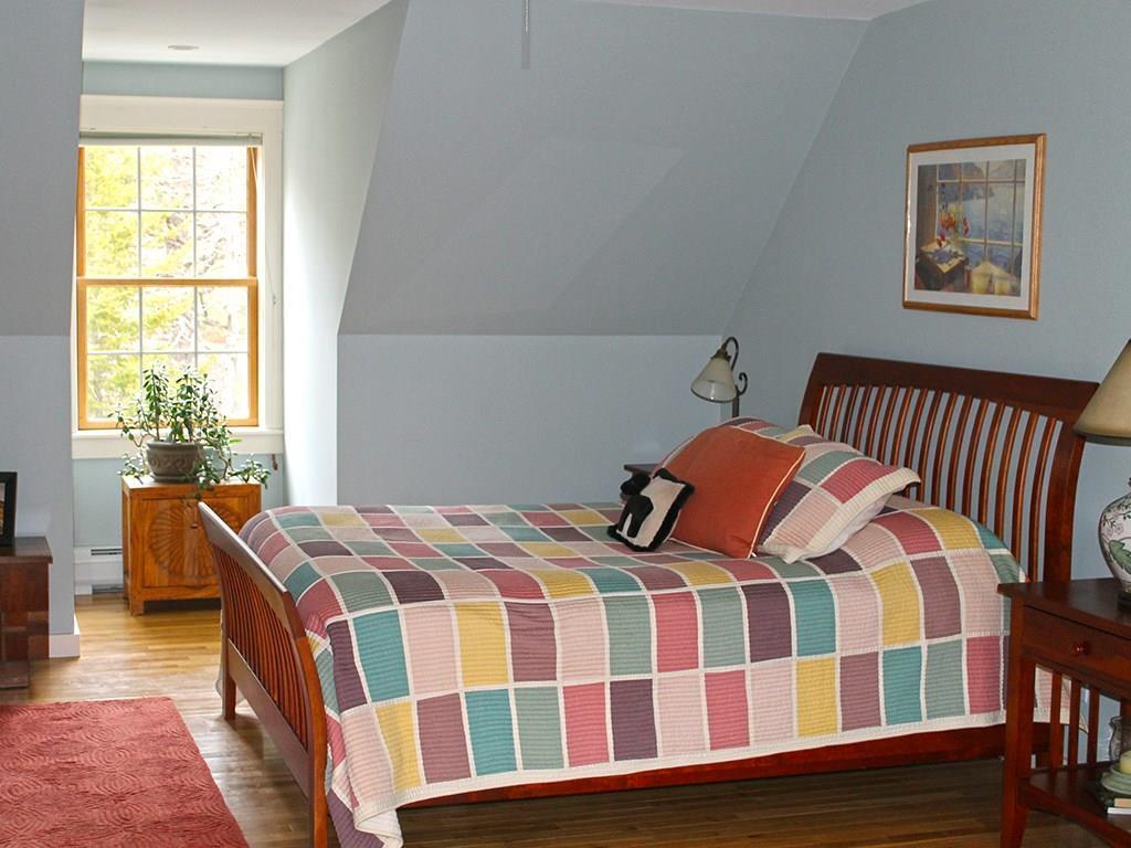 Master bedroom with window nook,...